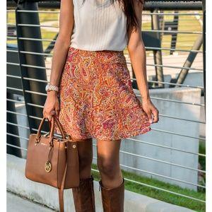 Zara Trafaluc Retro Paisley A_line Skirt
